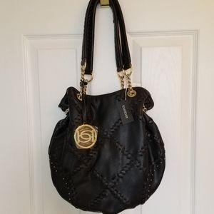 NWT Bebe Soft Black Faux Leather Shoulder Bag